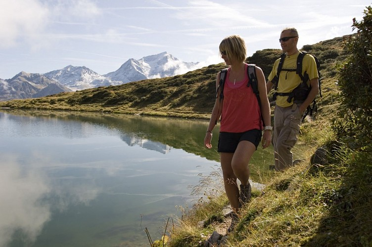 Hiking route : The Lac du Carroley