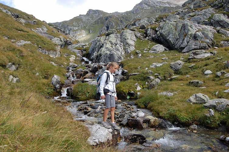 Hiking route : The Lac du Friolin