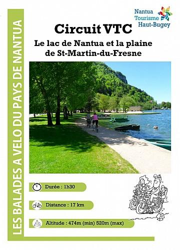 Parcours v lo circuit vtc lac de nantua et plaine de saint martin du fresne nantua - Office de tourisme nantua ...