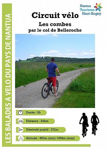 Circuit vélo - Les combes par le col de Belleroche depuis Brénod