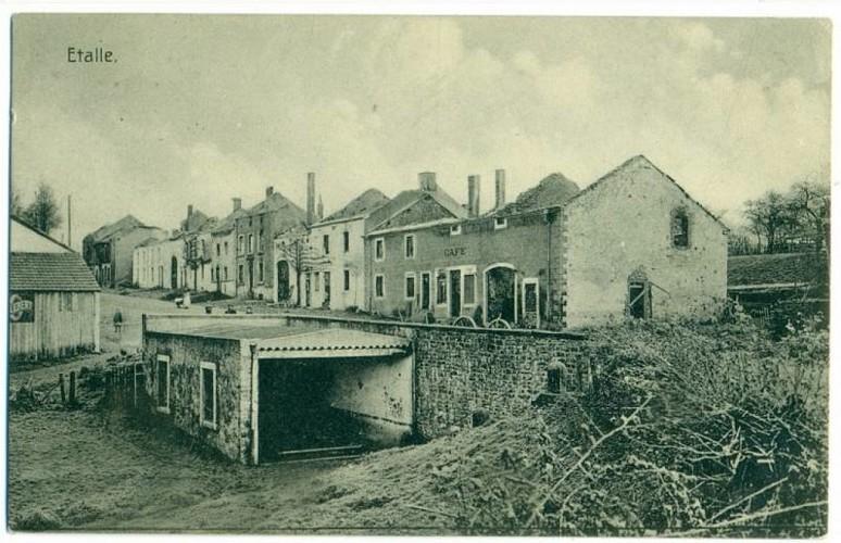 Les traces du 22 août 1914 dans le village d'Etalle