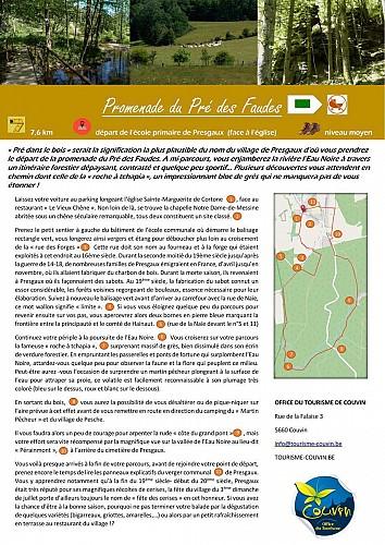 57 Promenade du Pré des Faudes - balise verte