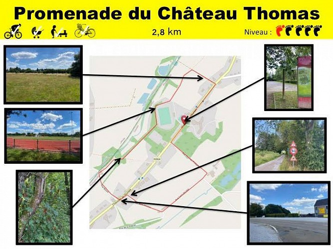 29 Promenade du Château Thomas - balise jaune
