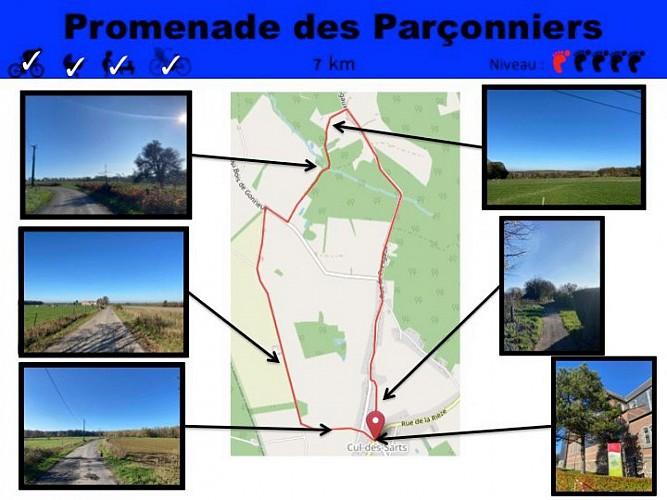 34 Promenade des Parçonniers - balise bleue