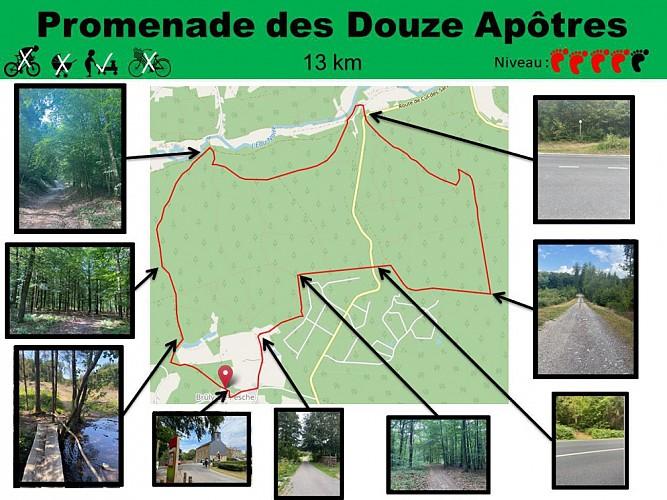 14 Promenade des Douze Apôtres - balise verte
