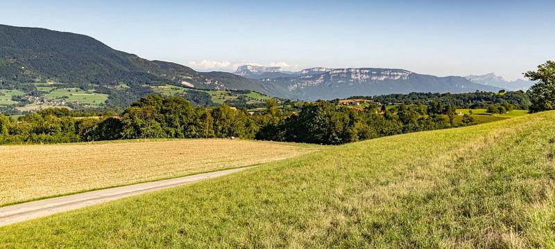 Vue sur la Chartreuse depuis le Circuit du Mont Tournier