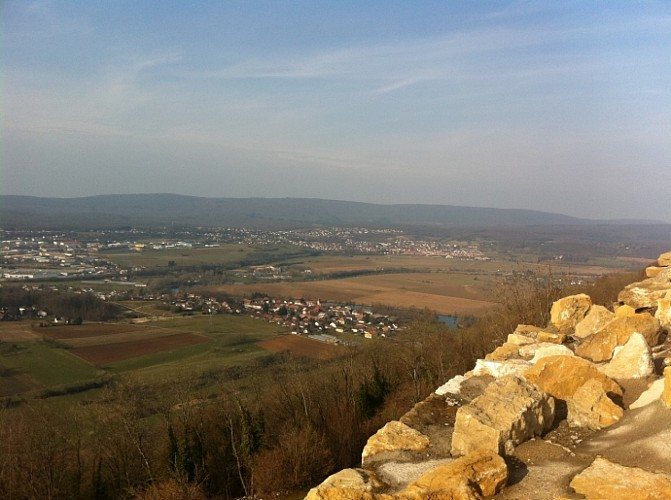 Ruines du château médiéval de Montfaucon