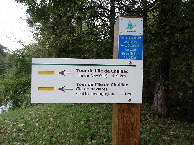 CHAILLAC-SUR-VIENNE Le tour de l'île de Navière