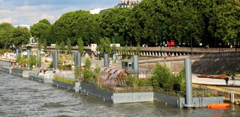 Les îles flottantes de la Seine
