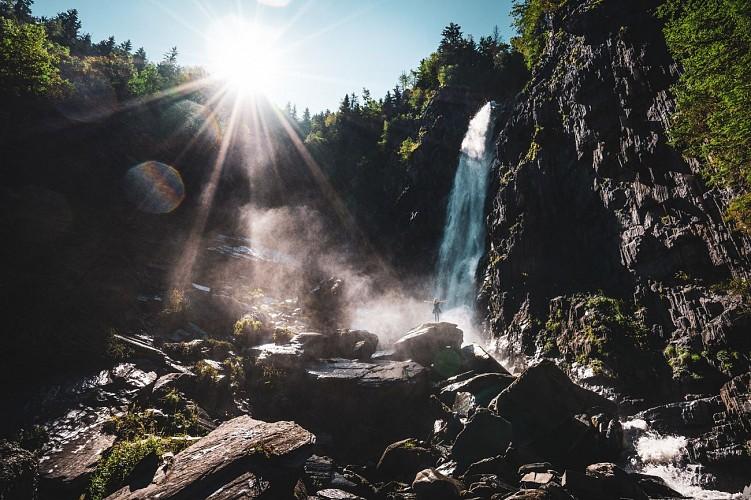 Stroll waterfall of la Muzelle
