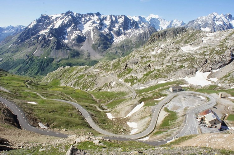 Vue depuis le Col du Galibier (Hautes-Alpes)