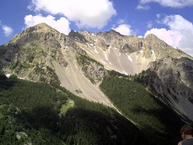 Vue sur le Queyras depuis le col d'Izoard (Hautes-Alpes)