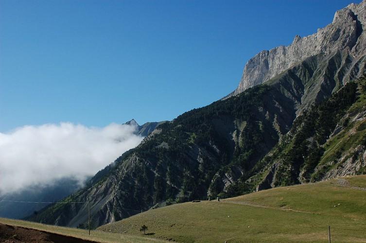Vue du col du Noyer (Hautes-Alpes)