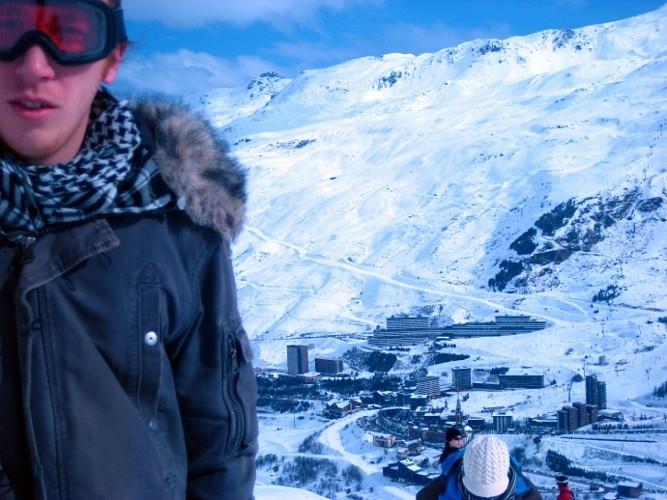 Les Menuires - Descente en Snowboard
