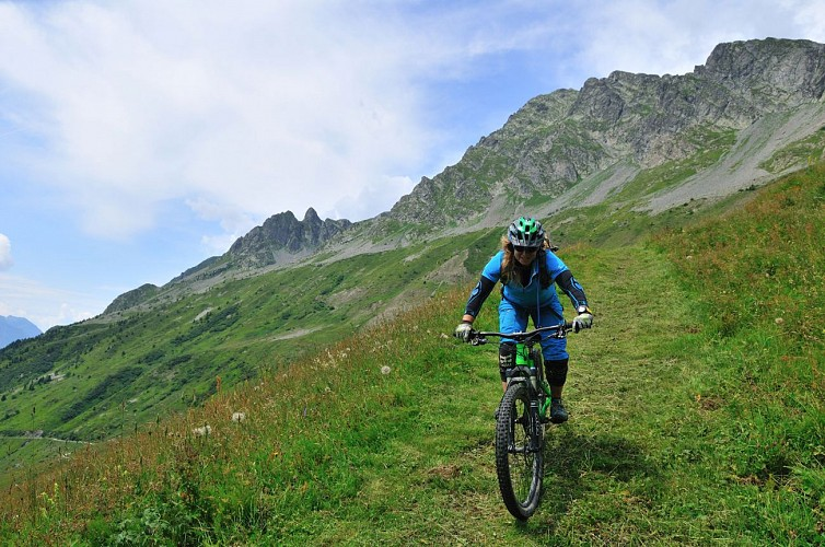 La descente du Col du Sabot
