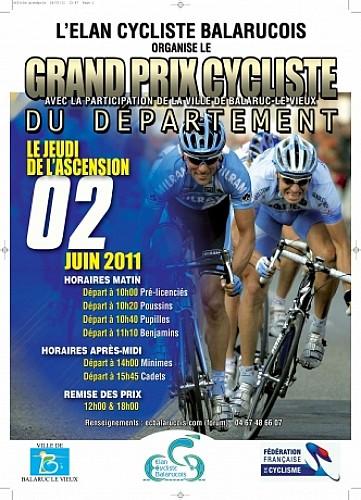 Grand Prix Cycliste du Département avec la participation de la ville de BALARUC LE VIEUX