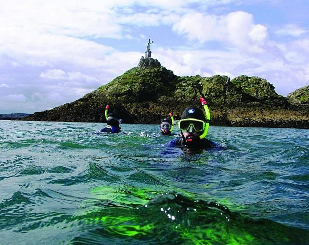 Balade en palmes, masque et tuba en baie de Saint-Malo