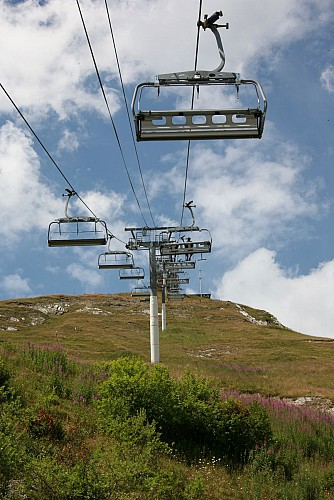 Chairlift in summer