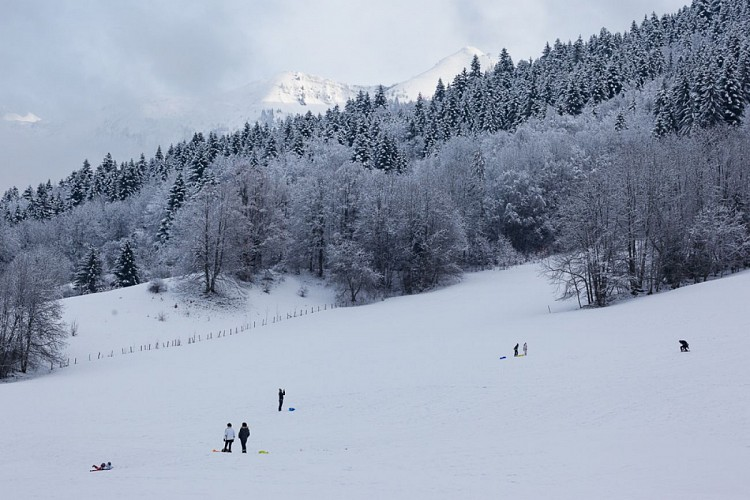 Circuit raquettes de l'Envers Bernex pays d'Evian