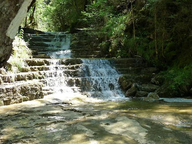 Les Voiles (cascades) du Landeyron
