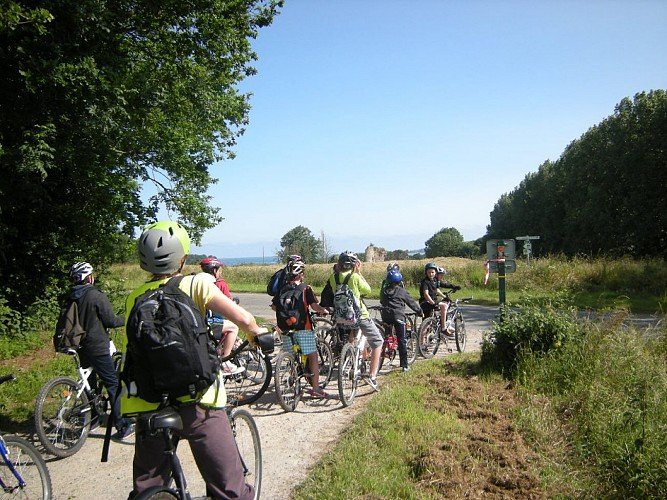 Link to the coastal bicycle road towards Plancoët and Saint-jacut-de-la-Mer