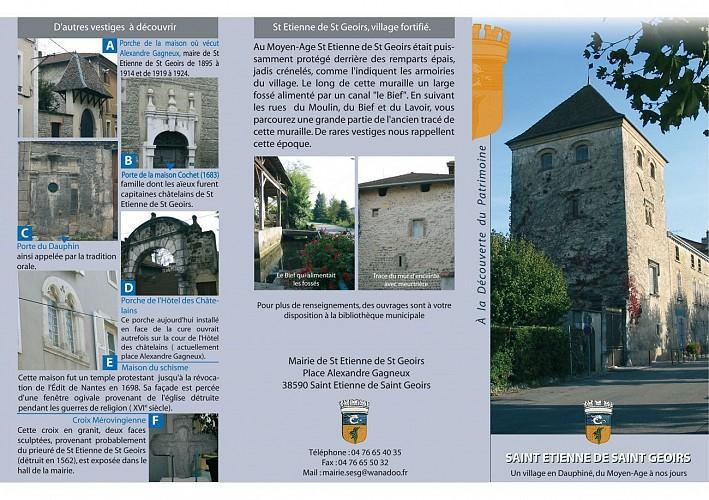 Découverte du patrimoine de St Etienne de St Geoirs