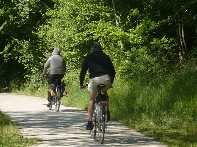 Arret Vert - Vélo - Départ de la gare de Barvaux s/o