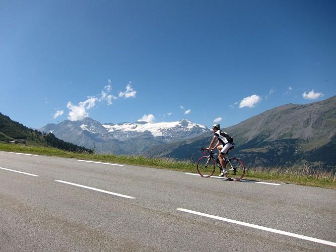 View on the Vanoise glaciers