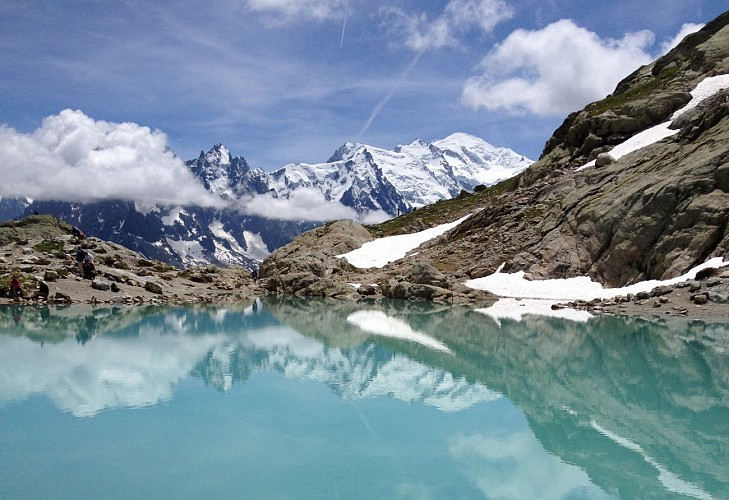 Hiking at Lac Blanc from Col des Montets