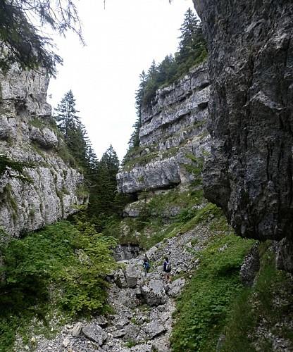 Randonnee au col de la Faucille - Canyon et sommet du Turet
