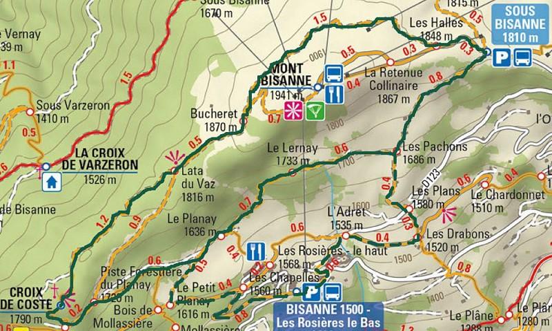 Bisanne tour by Croix de Coste