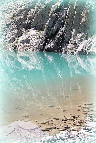 Lac des Bêches depuis le Refuge de la Lavey