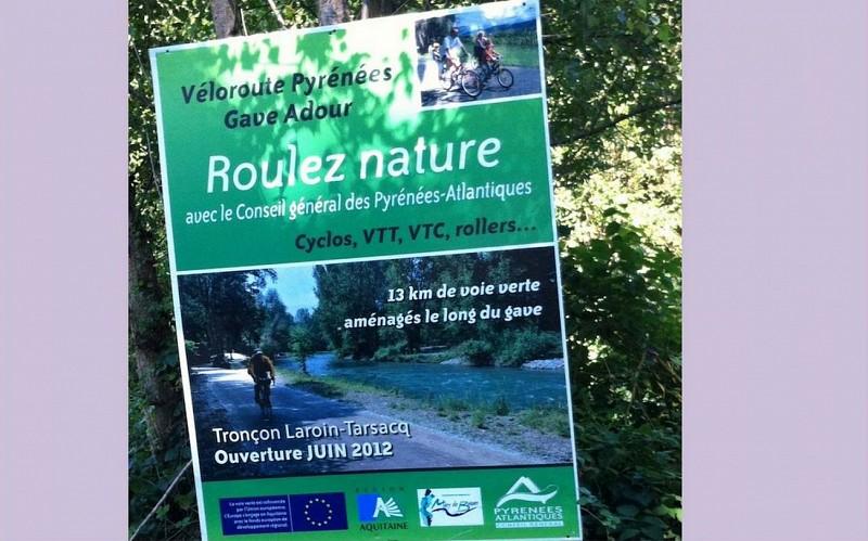 De Laroin à Tarsacq - La voie verte