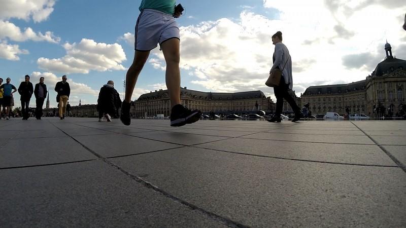 Running entre les deux ponts à Bordeaux