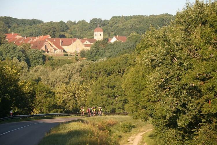 Itinéraire cyclable V50 : Luxeuil-les-Bains - EV6 - Vesoul-Val de Saône/Vosges du sud