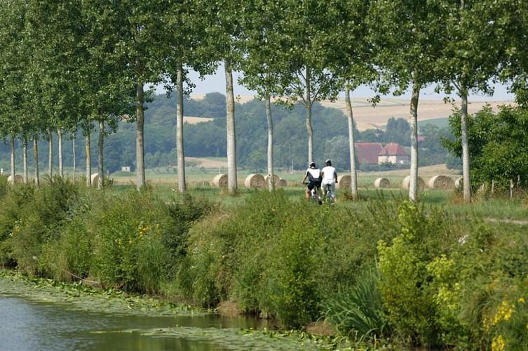 Itinéraire cyclable V50 - Nord/Sud - Vesoul-Val de Saône
