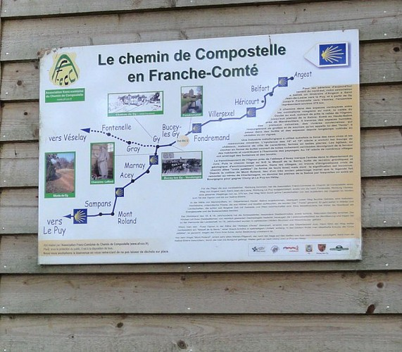 Chemin de Compostelle en Haute-Saône