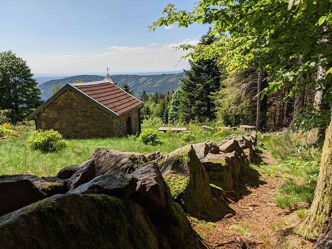 """Circuit pédestre """"La chapelle Saint Blaise"""" - Miellin - Vosges du sud"""