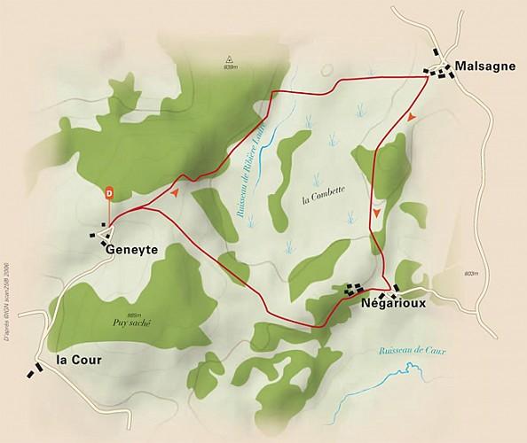 Chemin de découverte de la tourbière de Négarioux-Malsagne