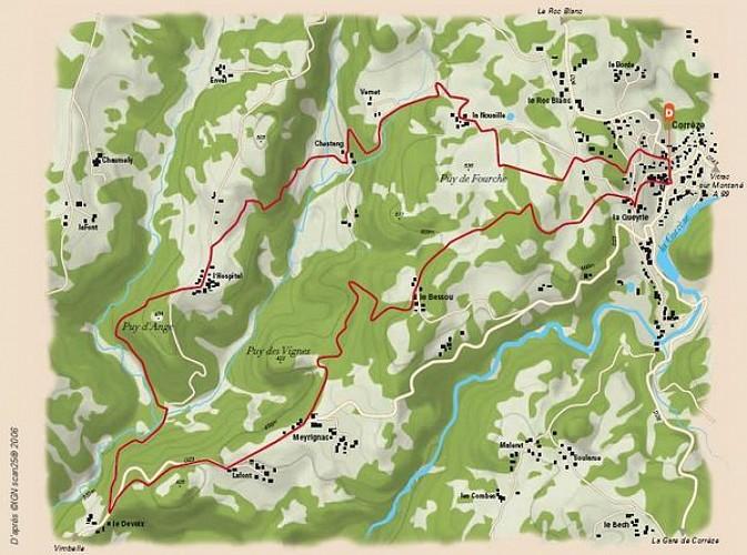 Entre les rivières Corrèze et Menaude