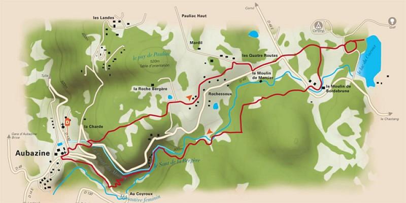 Le Coiroux : lac, torrent, canal