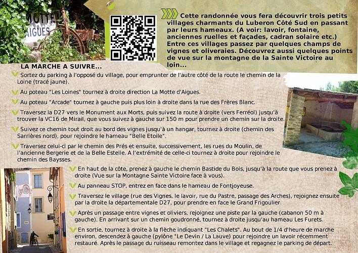 Rando: Saint Martin de la brasque, La Motte d'Aigues et leurs hameaux