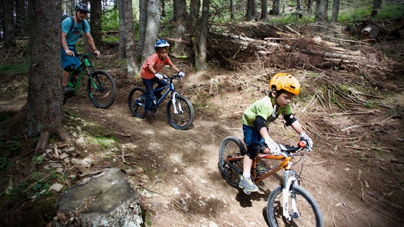 Woody WoodBiker Green DH trail and learning zone
