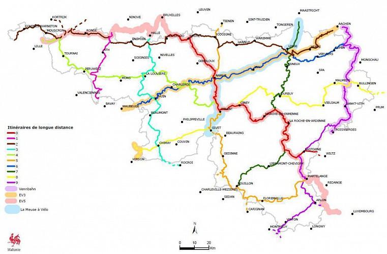 Itinéraire régional n°1 sur le RAVeL entre Lessines et Les Honnelles / Hainaut