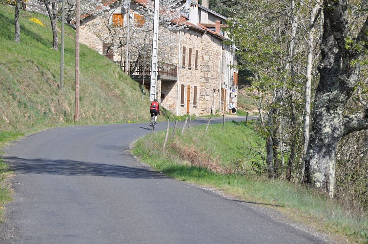 Parcours cyclo descendant La descente du Doux