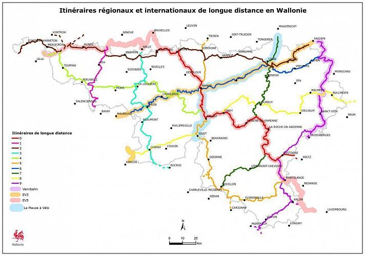 Itinéraire régional n°6 sur le RAVeL de la Sambre / Hainaut