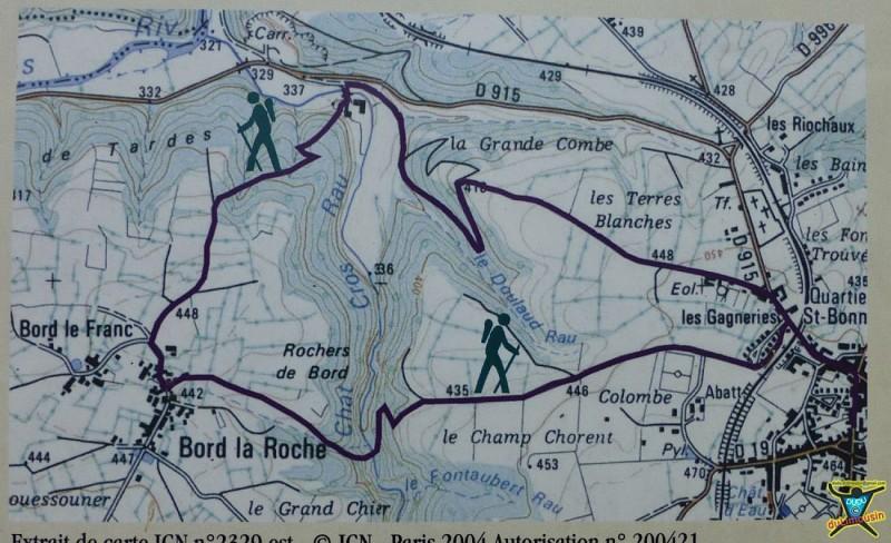 Les rochers de Bord - Evaux-les-Bains - 7.5km - 2h30 - Creuse (23)