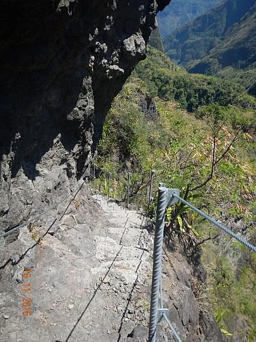 Sentier à flanc de falaise