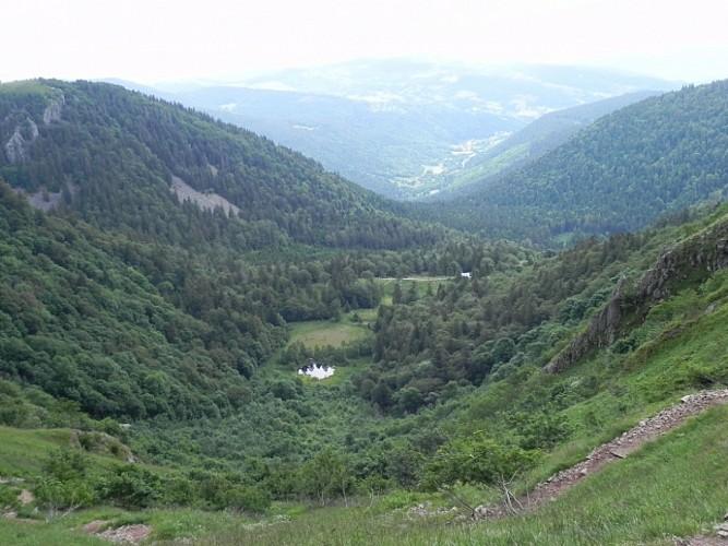 le col de la Schlucht - le sentier des roches - le petit Hohneck et le Hohneck