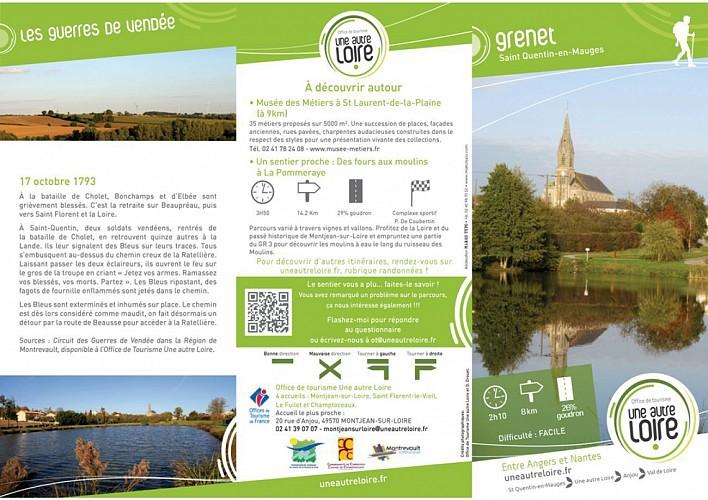 Randonnée Une autre Loire : Grenet à St Quentin-en-Mauges